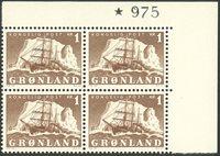 Grønland - AFA 34 marginal fireblok postfrisk