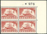 Grønland - AFA 35 marginal fireblok postfrisk