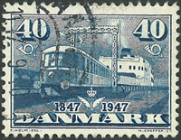 Danmark - AFA 304x stemplet