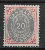 Danmark 1875 - AFA 28y - ustemplet