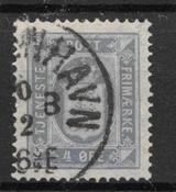 Danmark 1875 - Tj. AFA 5a - stemplet