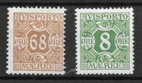 Danmark 1907 - Av. 7 + 13 - ustemplet