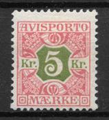 Danmark 1907 - Av. 9 - ustemplet