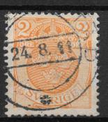 Sverige 1910 - Facit 68 Om/vm - stemplet