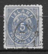 Island 1875 - AFA 6B - stemplet