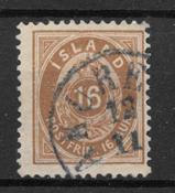 Island 1875 - AFA 9B - stemplet