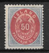 Island 1892 - AFA 16A - ustemplet