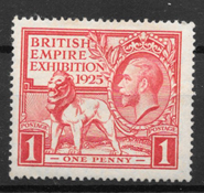 England 1925 - AFA 162 - ustemplet