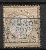 Tyske Rige 1872 - AFA 6 - stemplet