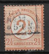 Tyske Rige 1874 - AFA  29 - stemplet