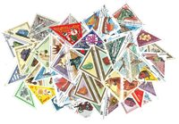 Triangular stamps - 50 different stamps