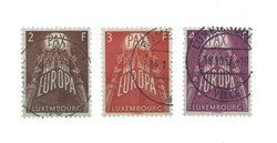 Luxemborg 1957 - Stemplet - Michel 572-74