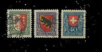 Suisse 1921 - Michel 172/74 - Oblitéré