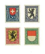 Suisse 1924 - Michel 209/12 - Neuf avec charnière