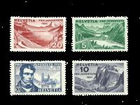 Schweiz 1931 - Michel 246/49 - Ubrugt