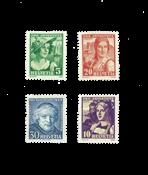 Suisse 1933 - Michel 266/69 - Neuf avec charnière