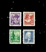 Suisse 1934 - Michel 281/84 - Neuf avec charnière