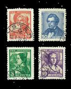Suisse 1935 - Michel 287/90 - Oblitéré