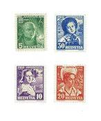 Schweiz 1936 - Michel 306/09 - Ubrugt