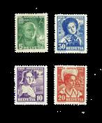 Suisse 1936 - Michel 306/09 - Neuf avec charnière