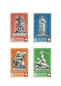 Schweiz 1940 - Michel 364/67 - Ubrugt