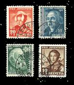 Suisse 1942 - Michel 412/15 - Oblitéré