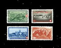 Suisse 1944 - Michel 431/34 - Neuf avec charnière