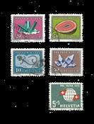 Suisse 1959 - Michel 674/78 - Oblitéré