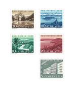 Schweiz 1955 - Michel 613/17 - Postfrisk