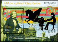 Ungarn - Franz Liszt - Postfrisk miniark