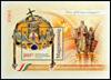 Hongrie - La Constitution - Présentation av/bloc dorée et des cristaux