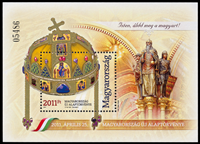Ungarn - Den nye forfatning - Postfrisk miniark