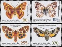 Hongrie - Papillons - Série neuve 4 v