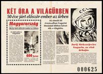 Hongrie - Premier vol dans l'espace - Bloc-feuillet neuf