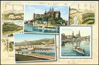 Germany - Steam ships - Mint souvenir sheet