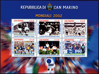 Saint Marin - Coupe du Monde football - Bloc-feuillet neuf