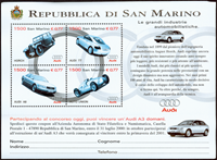 San Marion - Audi - Bloc-feuillet neuf