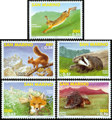 Saint Marin - Les animaux de la forêt - Série neuve 5v