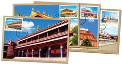 Chine - Temples - Série de cartes maximum
