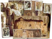 Kina - Longmen grotter - Flot sæt maxikort
