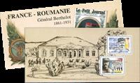 France - Général Berthelot-Emission commune avec la Roumanie - Bloc-feuillet neuf en pochette
