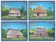 Fiji - Navala Village - Postfrisk sæt 4v