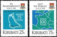 Kiribati - Afslutninge af 1. verdnskrig - Postfrisk sæt 2v