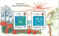 Kiribati - Fin de la 1ère guerre mondiale - Bloc-feuillet neuf