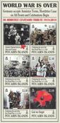 Îles Pitcairn - Fin de la 1ère Guerre mondiale - Bloc-feuillet neuf