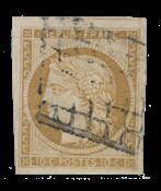 France - 1850 - Y&T 1b, oblitéré