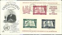 Nations Unies - AFA 42 enveloppe premier jour