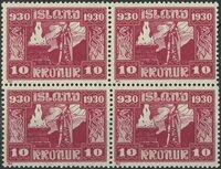 Islande - AFA 139 bloc de 4 neuf