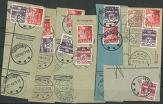 Îles Féroé - Coupures avec timbres provisoires