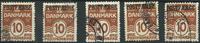 Danmark - AFA 12a postfærge stemplet